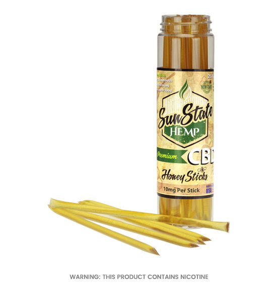 CBD Honey Sticks 10mg by Sun State Hemp