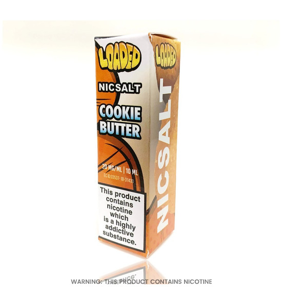 Cookie Butter 10ml Nic Salt E-Liquid by Loaded