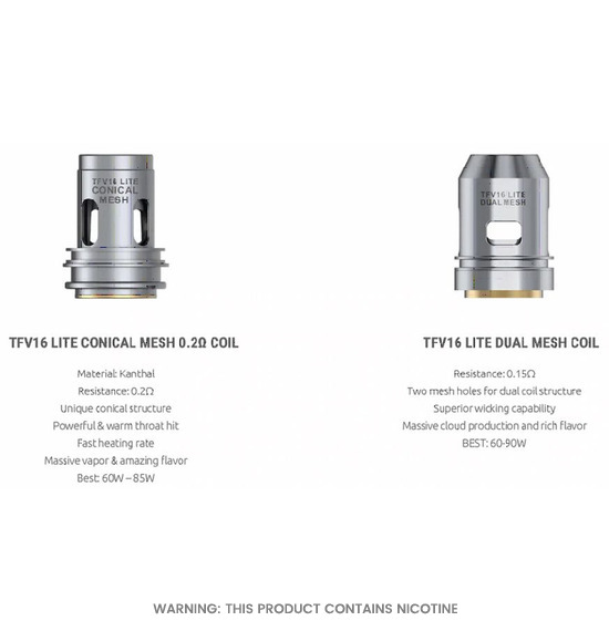 TFV16 Lite Replacement Coils By Smok