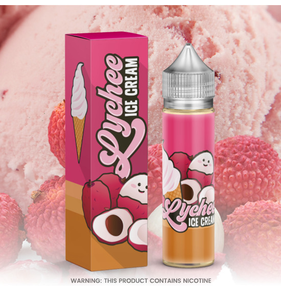 Lychee Ice Cream 60ml E-Liquid by Marina Vape