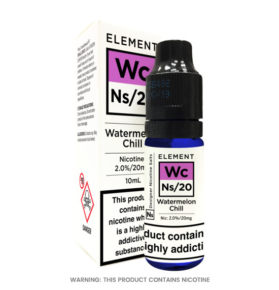 Element Watermelon Chill Nic Salt E-Liquid 10ml